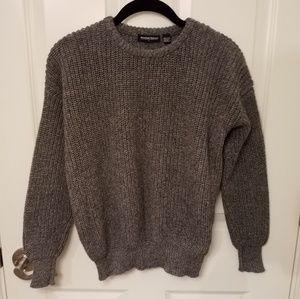 American Apparel heather grey fisherman pullover
